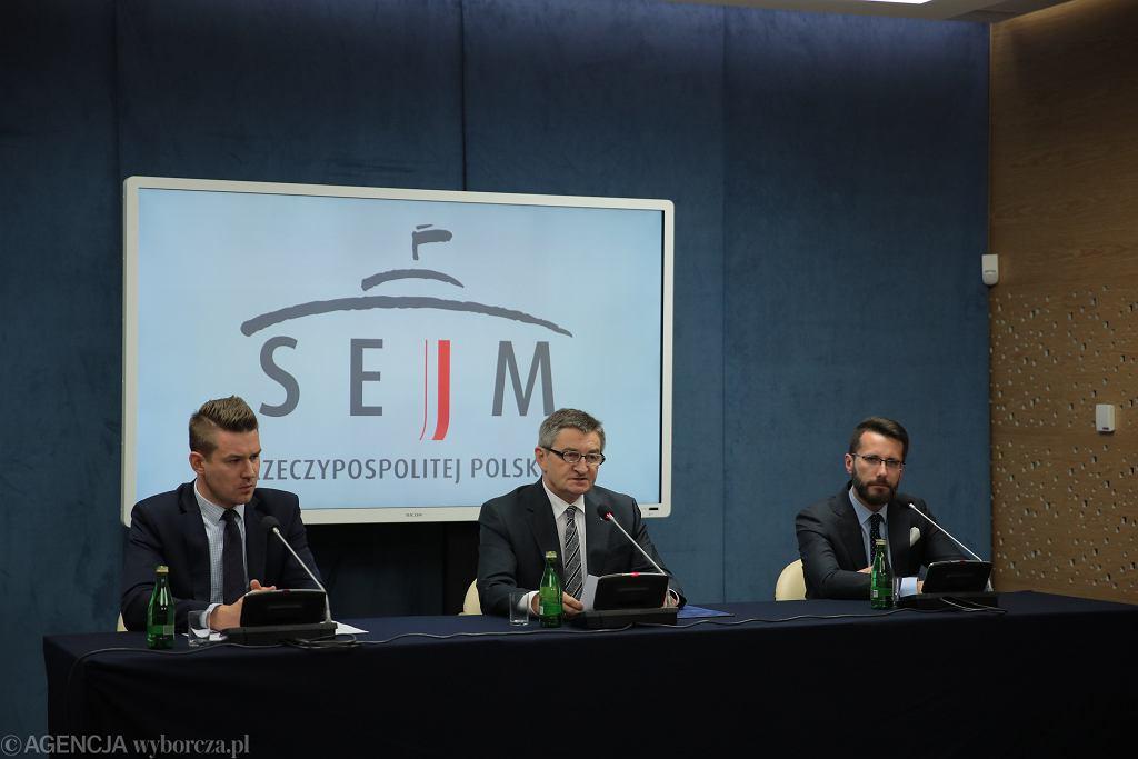 Oświadczenie Marszałka Sejmu Marka Kuchcińskiego ws. afery 'Air Kuchciński'. Warszawa, Sejm, 5 sierpnia 2019