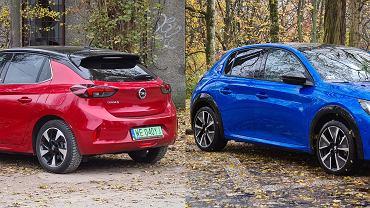 Opel Corsa-e i Peugeot e-208