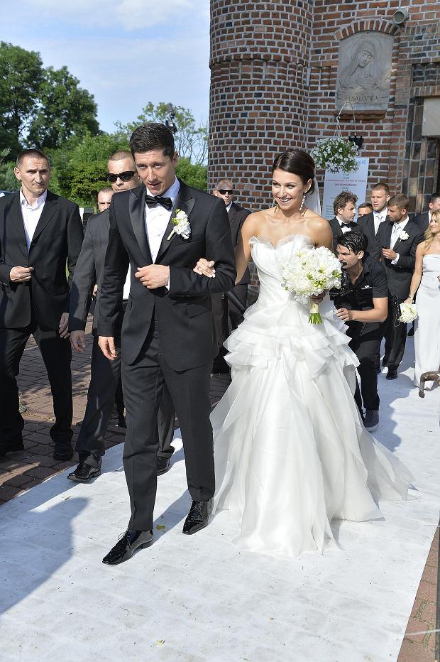 Robert Lewandowski i Anna Stachurska, ślub