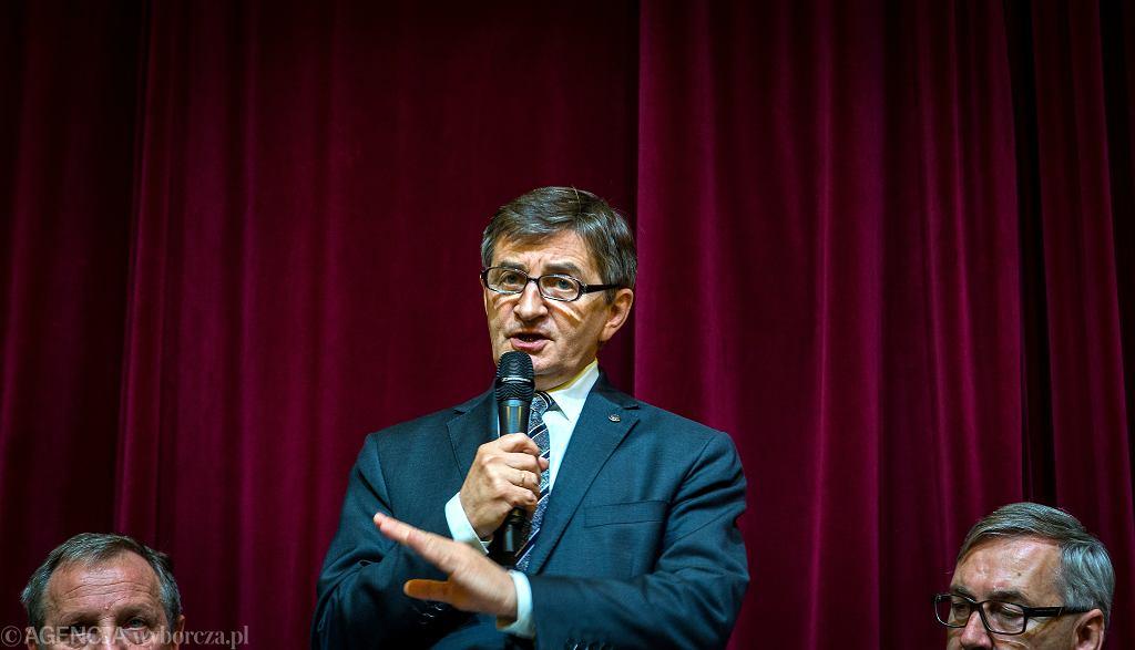 Marszałek Sejmu Marek Kuchciński z gospodarską wizytą w Żywcu. 21 kwietnia 2018