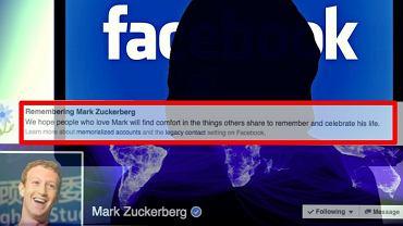 Facebook uśmiercił Marka Zuckerberga