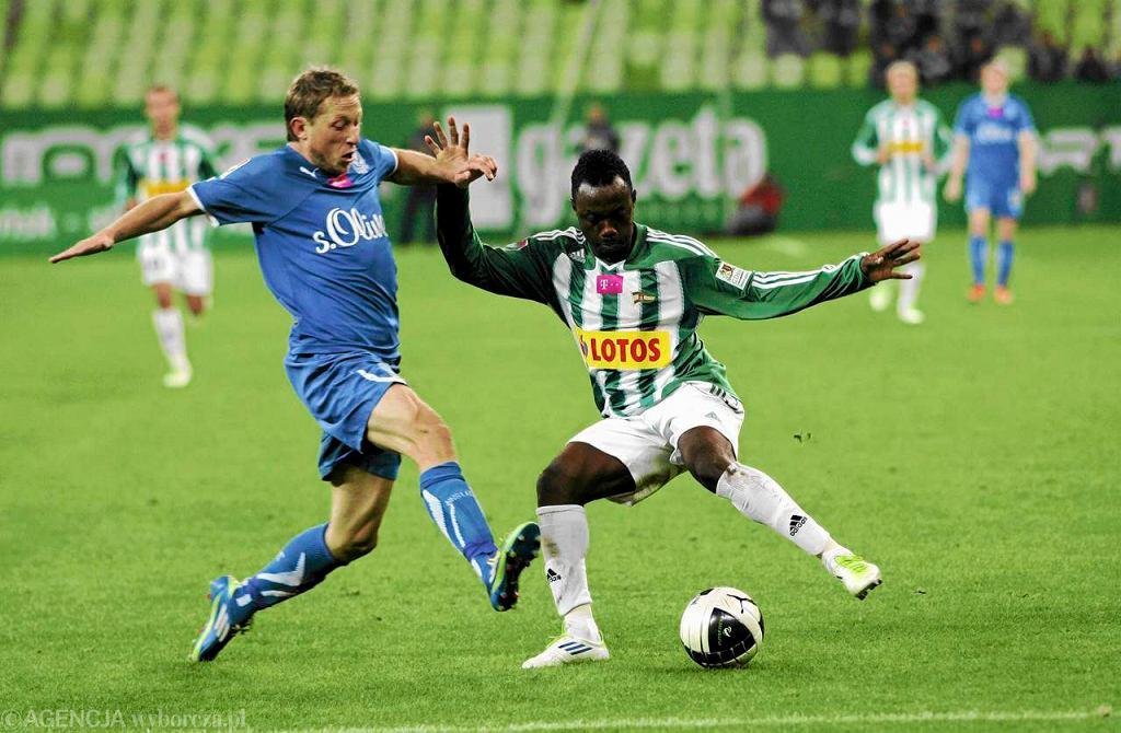 Abdou Razack Traore w meczu z Lechem Poznań