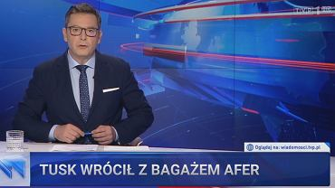 Kadr 'Wiadomości' TVP
