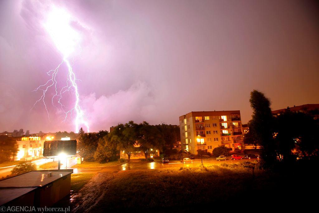 Burza w Warszawie / zdjęcie ilustracyjne