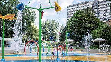 Wodny plac zabaw został otwarty na os. Tysiąclecia w Katowicach