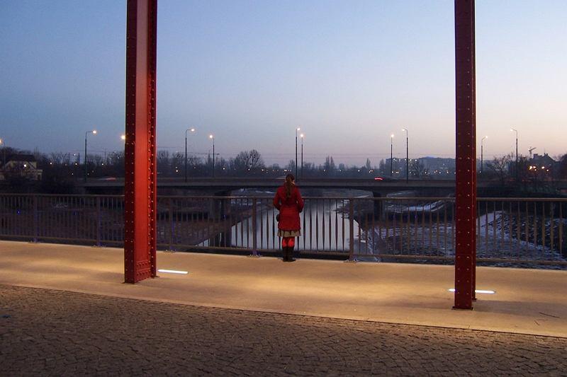 Most rzeka i...