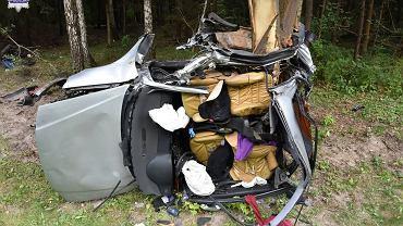 Lubelskie. Samochód z impetem uderzył w drzewo. Nie żyje 20-latek