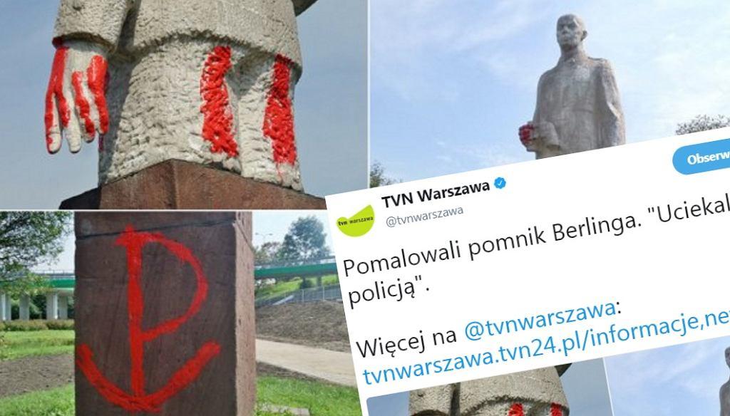 Zdewastowali pomnik Berlinga