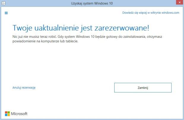 Kreator rezerwacji systemu Windows 10