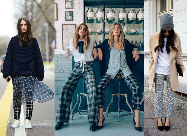 Spodnie w kratkę - retro szyk w nowoczesnym wydaniu