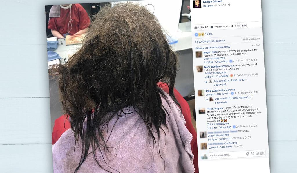 Fryzjerka nie zgodziła się na radykalne cięcie.