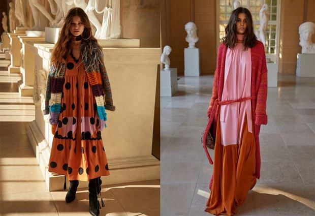 Przeceny w sklepie Vicher. Sukienka Sahara - 750 zł (po lewej) i sukienka Safran - 1190 zł (po prawej)