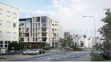 Wizualizacja budynku przy ul. Nowej