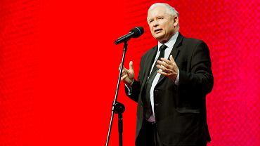 Prezes PiS Jarosław Kaczyński podczas kongresu 'Impact'16: 4.0 Economy'. Kraków, 15 czerwca 2016
