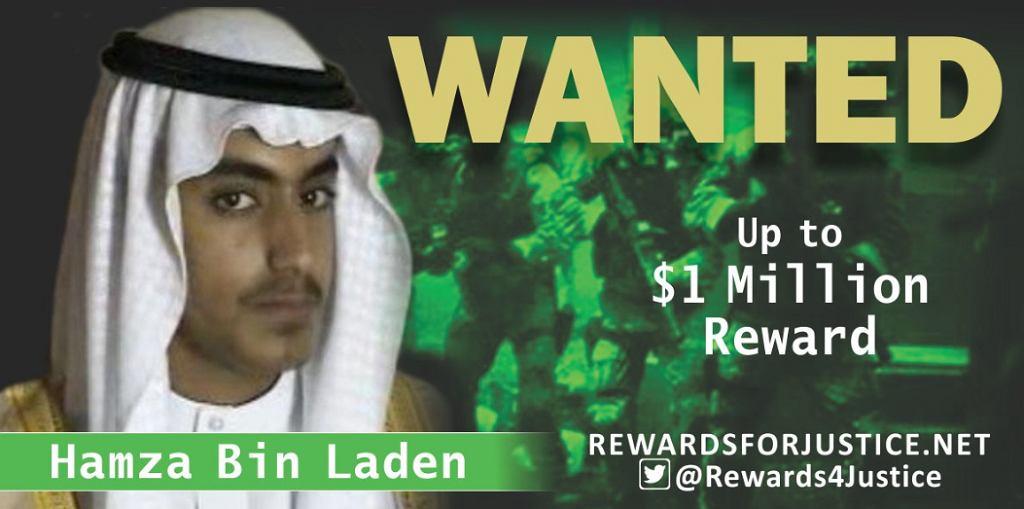 Stany Zjednoczone wyznaczyły nagrodę za informacje o synu Osamy bin Ladena