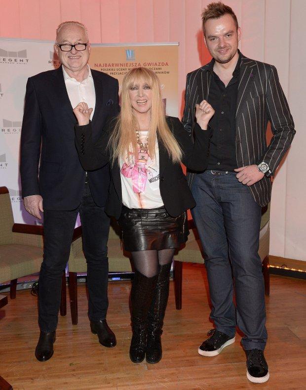 Maryla Rodowicz z mężem i synem