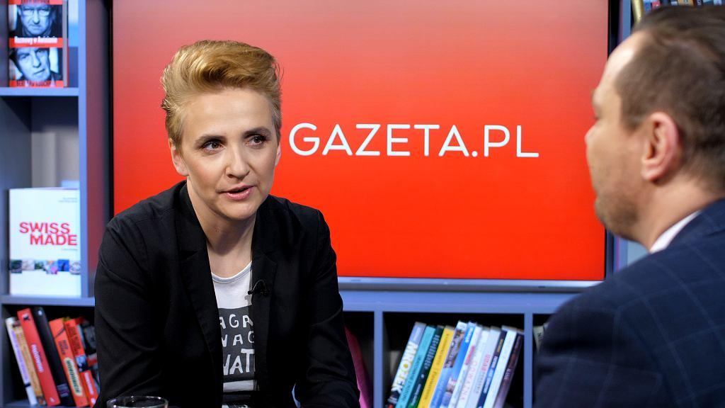 Joanna Scheuring-Wielgus w Poranku Gazeta.pl