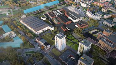 Społeczna koncepcja funkcjonalno-przestrzenna Fabryki Pełnej Życia - widok z południa