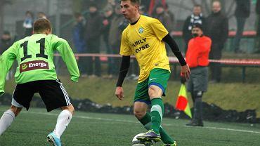 Dominik Chromiński (z prawej) już w barwach Warty Poznań