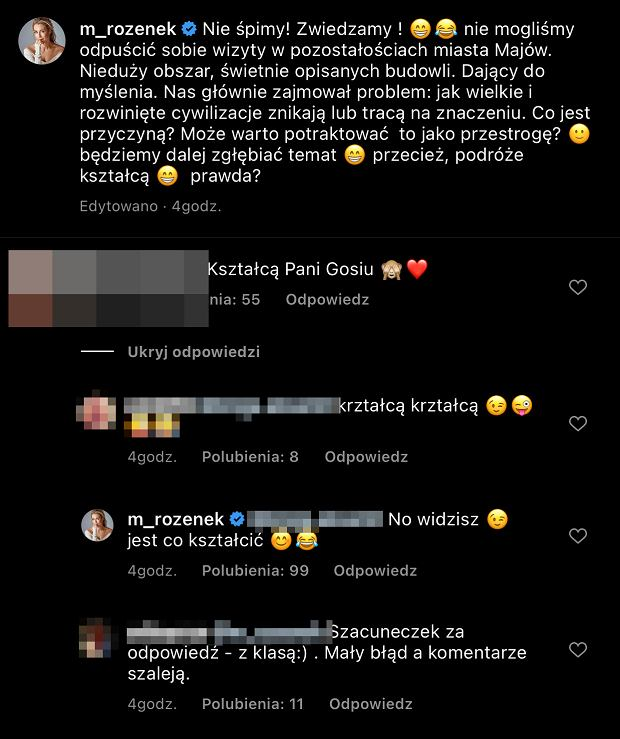 Screen z Instagrama Małgorzaty Rozenek