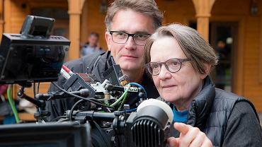 Agnieszka Holland i Johannes Rexin (niemiecki koproducent filmu)