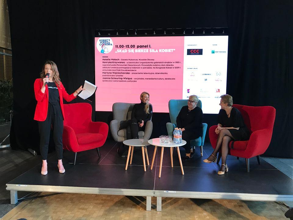 Kobiety wiedzą, co robią. Natalia Waloch prowadzi panel o sile kobiet z Martyną Wojciechowską, Henryką Krzywonos-Strycharską i Joanną Scheuring-Wielgus