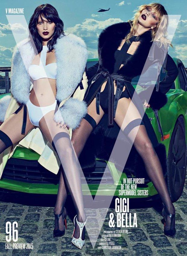Bella i Gigi Hadid na okładce