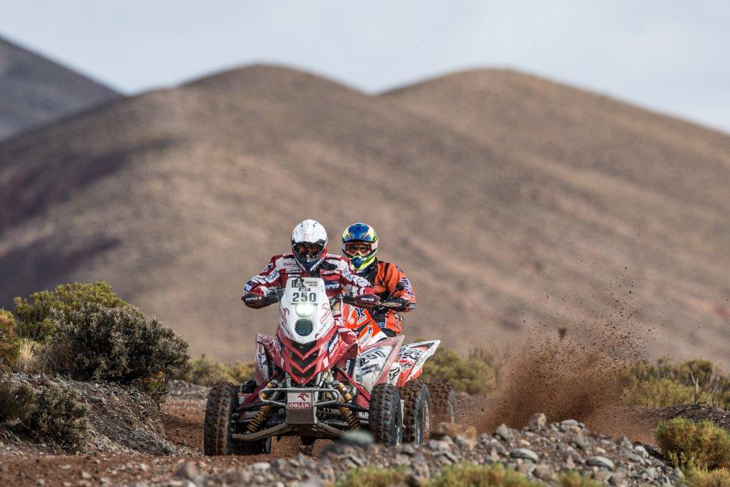 Rafał Sonik na etapie maratońskim Rajdu Dakar 2016