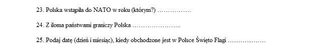 Fragment egzaminu na pilotów wycieczek z 27 maja 2013 r.