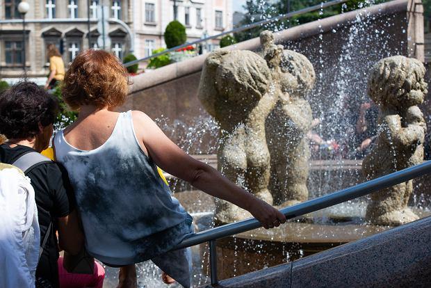 Zdjęcie numer 4 w galerii - W obronie rzek sympatyczne panie zamoczyły nogi w fontannie [ZDJĘCIA]