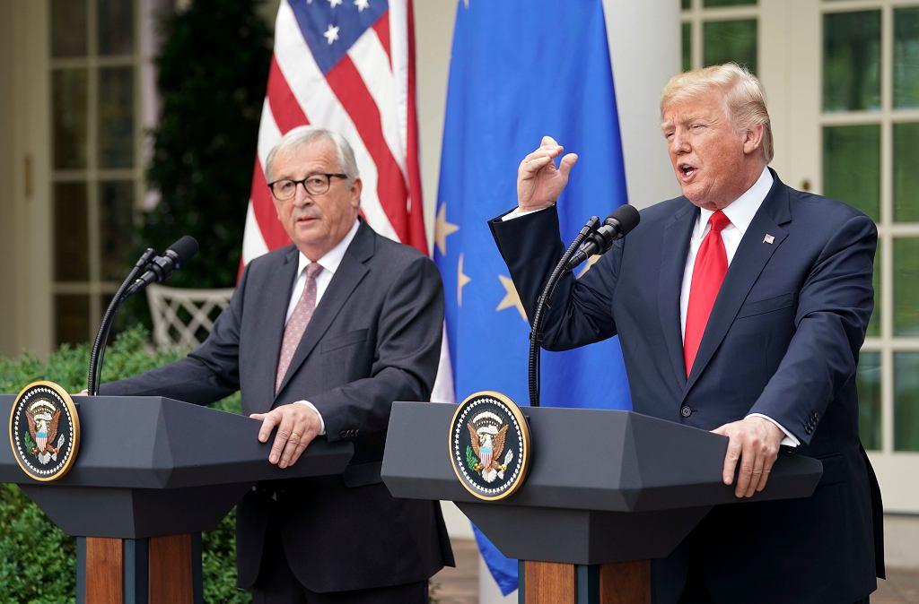 Donald Trump spotkał się z szefem Komisji Europejskiej Jean-Claude Junckerem