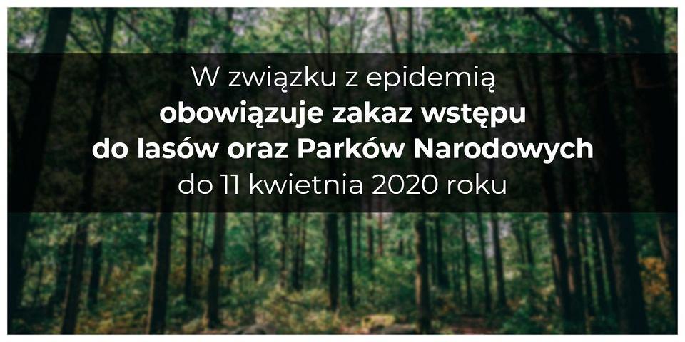 Zakaz wstępu do lasów i parków narodowych