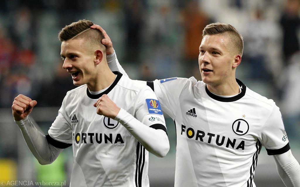Puchar Polski. Legia - Bytovia 4:2. Łukasz Moneta (z prawej)