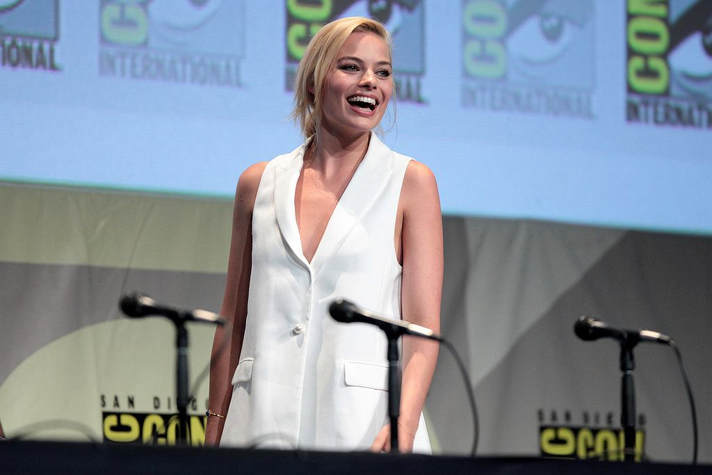 Margot Robbie podczas San Diego Comic Con, 2015 r.
