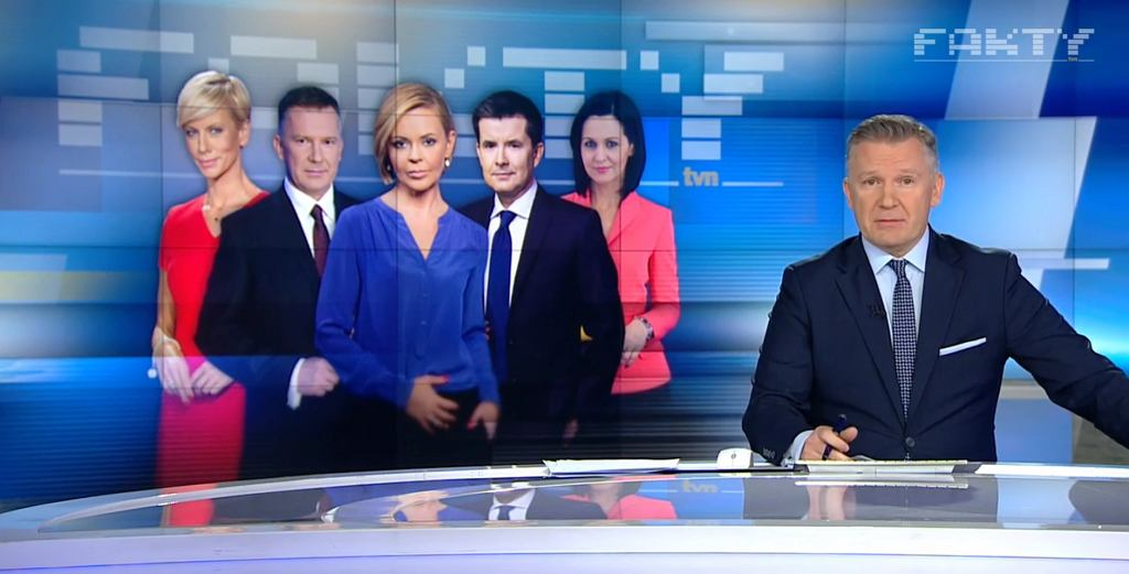 Kadr z programu 'Fakty' TVN