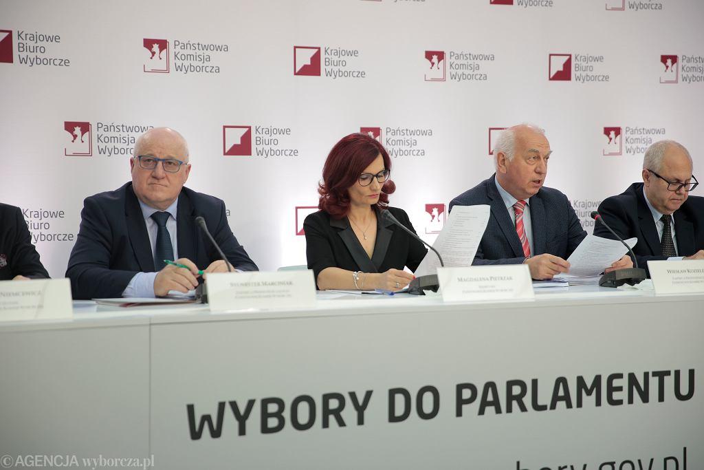 Konferencja prasowa Państwowej Komisji Wyborczej w Warszawie