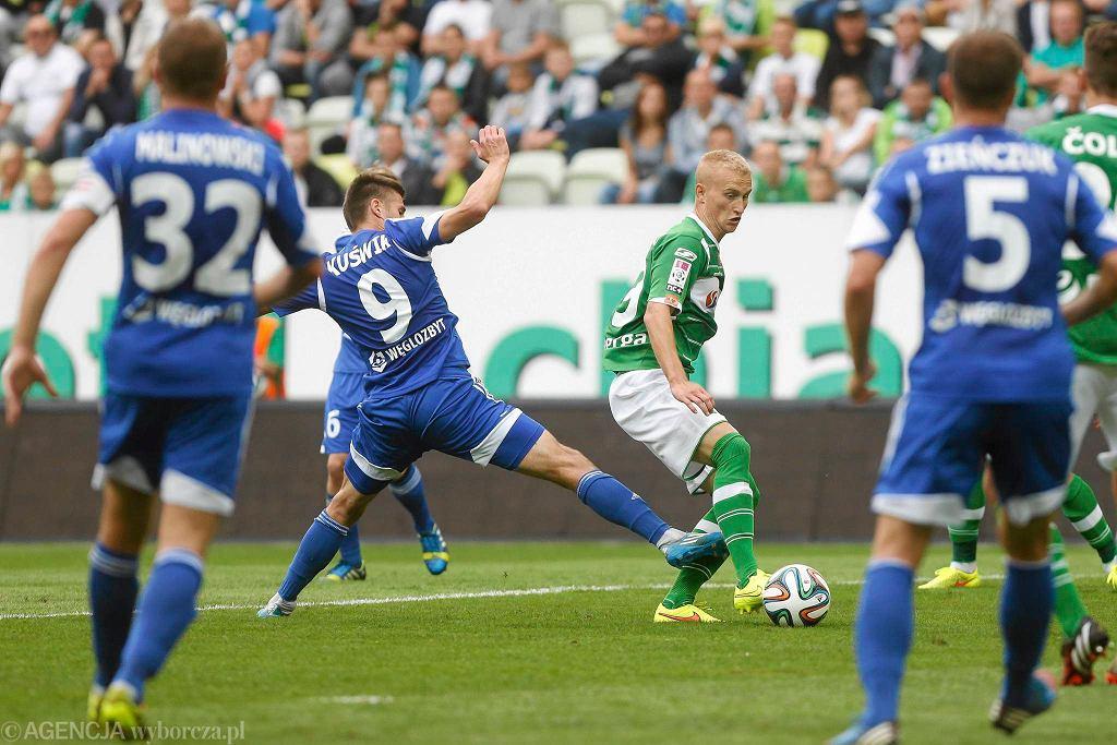 Ruch Chorzów podczas meczu z Lechią Gdańsk