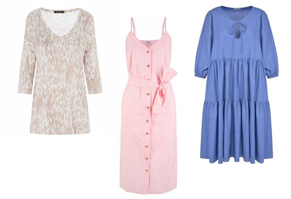 Lniane ubrania na lato dostępne na Allegro