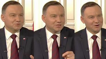 Andrzej Duda podczas wywiadu dla TVP Historia