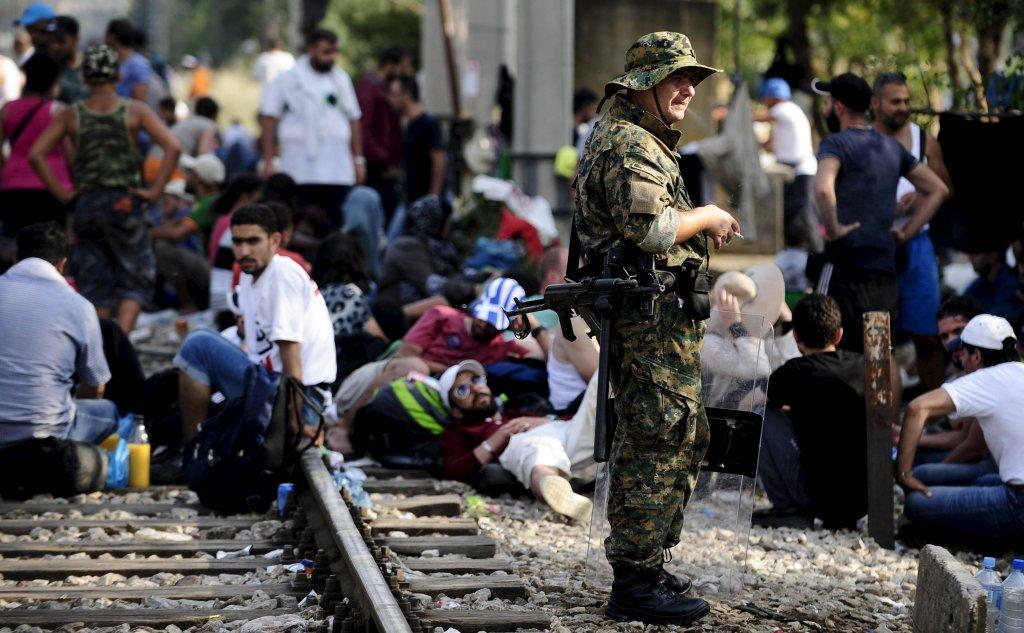 Gevgelija - przejście graniczne w Macedonii, gdzie aktualnie czekają tysiące uchodźców