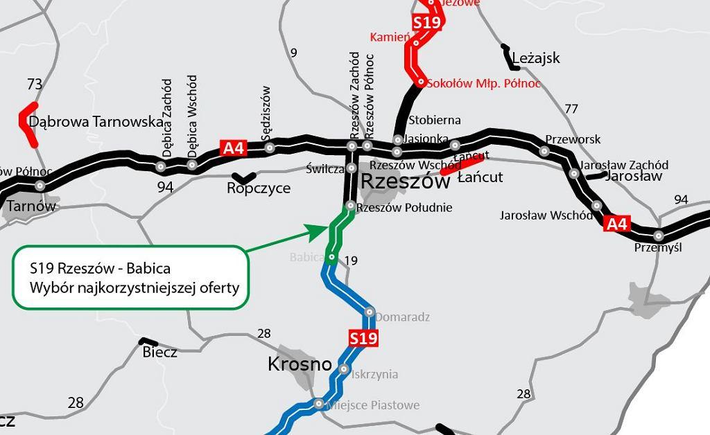 S19 Rzeszów - Babica, Via Carpatia