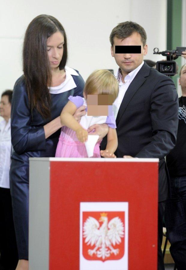 Marta Kaczyńska i Marcin D. z córką