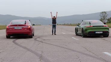 Tesla S vs Porsche Taycan