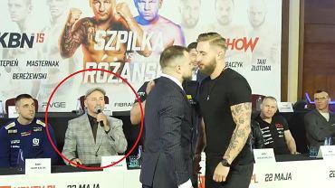 Artur Szpilka na konferencji prasowej