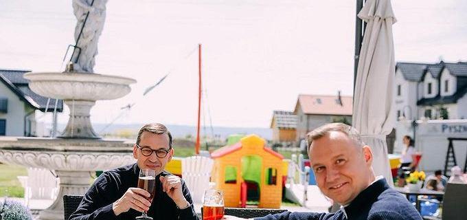 Prezydent i premier wypili piwo. Opozycja: Za 70 mln stracone na wybory?