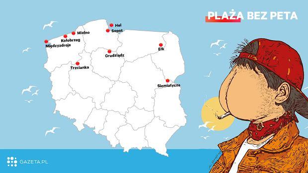 Już dziewięć miast przyłączyło się do akcji 'Plaża bez peta'