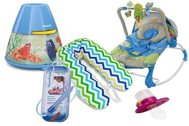 Poduszka do karmienia, smoczek do podawania leków, leżaczek, Frida do nosa, projektor do pokoju dziecka