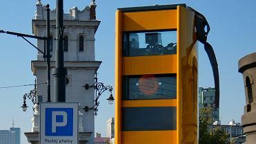 Fotoradar na Moście Poniatowskiego w Warszawie