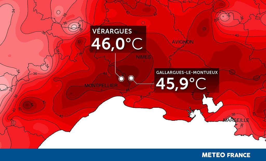 Upały w Europie. Rekord temperatury we Francji - 46 stopni