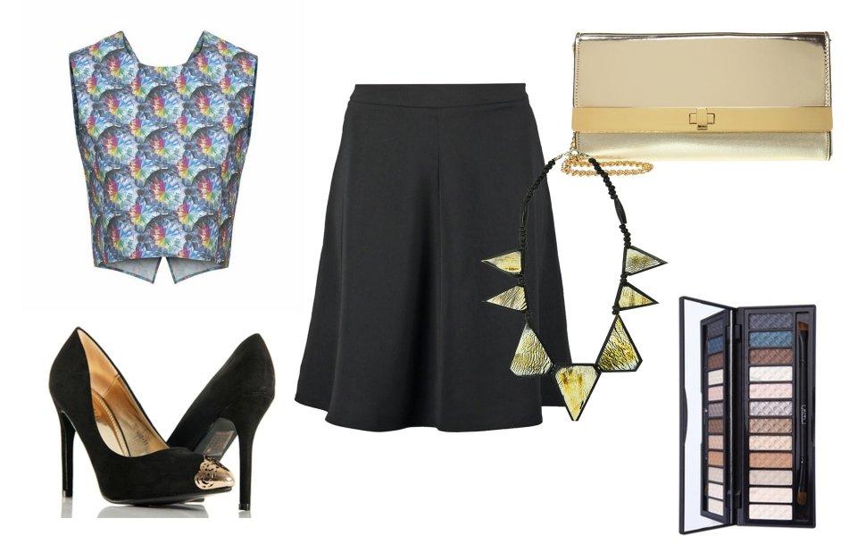 cfed40e5 Czarna rozkloszowana spódnica w nowej odsłonie - gotowe stylizacje